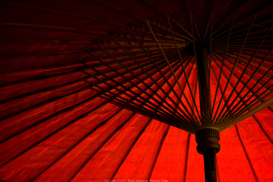 Photo documentation and reserch about differnt, old and modern aspects of Beijing. In preparation for the Feature film 'Lauras Star in china'. Red traditional umbrella