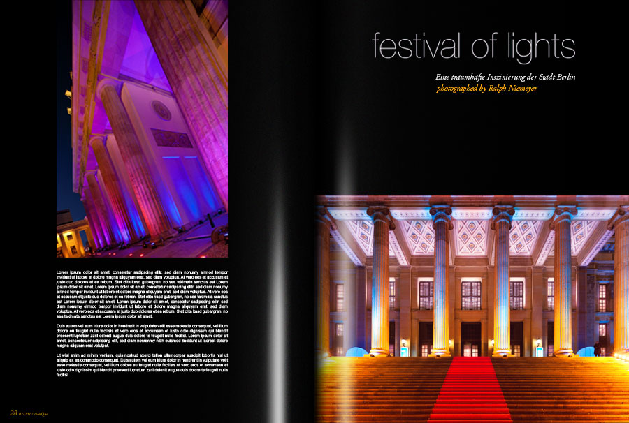 festival of lights · published in celesQue magazine