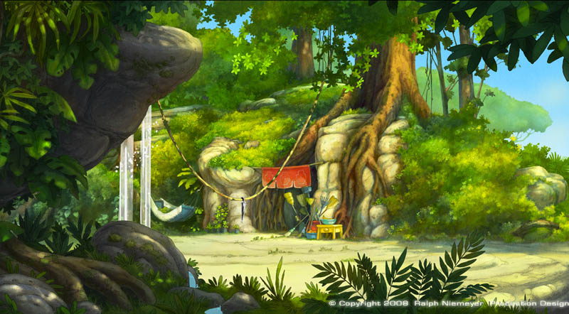 Set design · Background painting