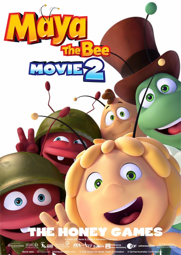 Biene Maja Maya the bee 2 Honey Games Poster AWN