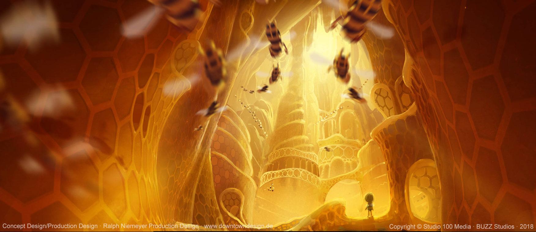die-biene-maja-2-die-honigspiele-concept-art-ralph-niemeyer-hive-buzztropolis