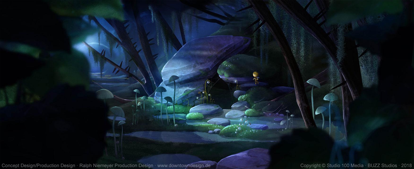 die-biene-maja-2-die-honigspiele-concept-art-ralph-niemeyer-maja-cabin-night